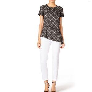 Bailey 44 alvy layered plaid blouse